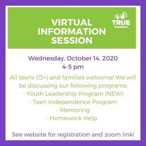 (Virtual) Teen Programs Information Session @ Zoom
